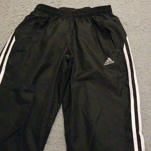 Adidas black and white track pants